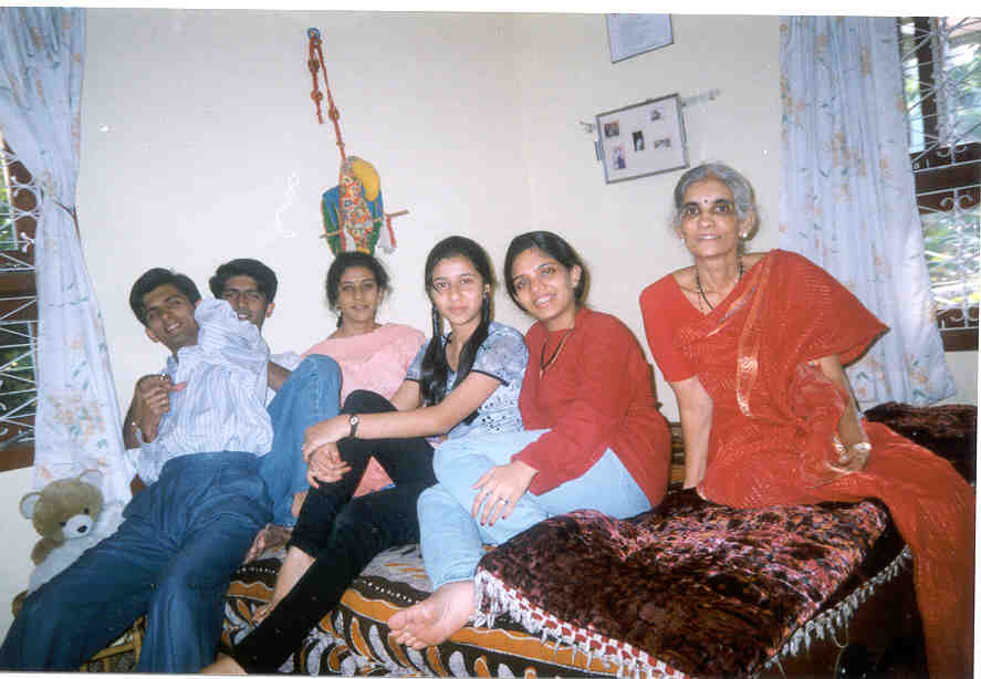 Most Wonderful person on earth...Mother with my bro, sis and friends