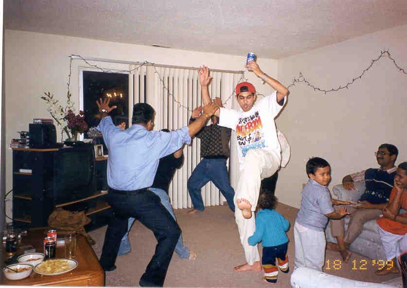 Shesha partying (desi style!)